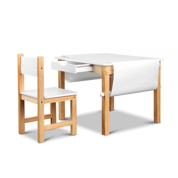 Artiss Kids Art Table And Chair Set Study Children Furniture Desk