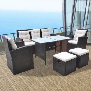 6x Outdoor Dining Set