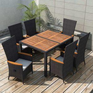 7x Outdoor Dining Set