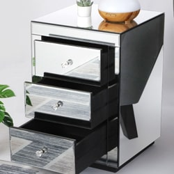 mirrored bedside tables