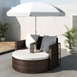 Outdoor Bed with Parasol